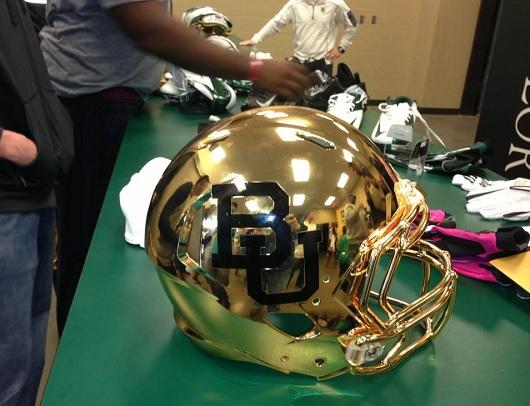 baylor gold chrome helmet