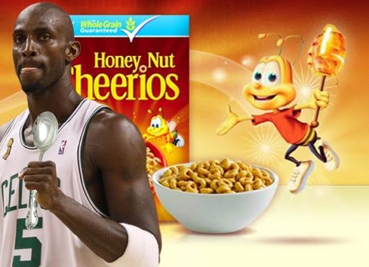 Kevin Garnett Honey Nut Cheerios