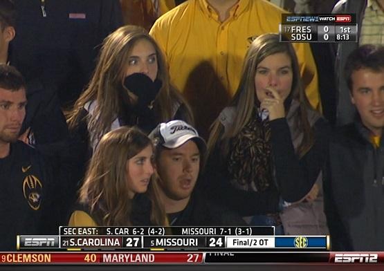 Missouri fans faces
