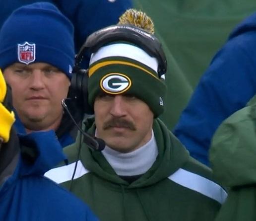 Aaron Rodgers mustache