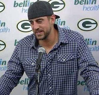 Aaron Rodgers backwards hat