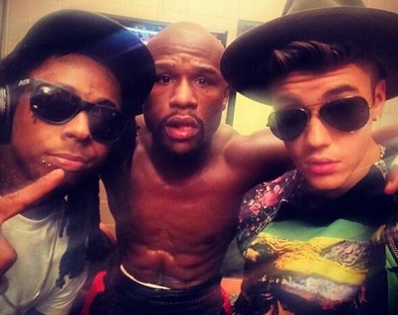 Floyd Mayweather Lil Wayne Justin Bieber