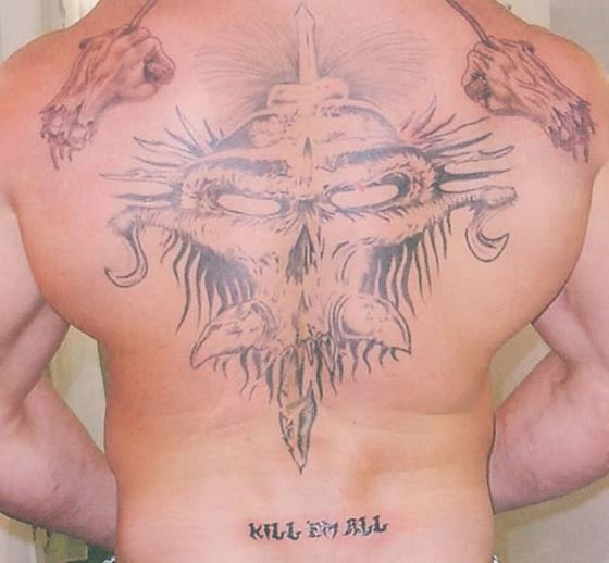 Brock Lesnar back tattoo