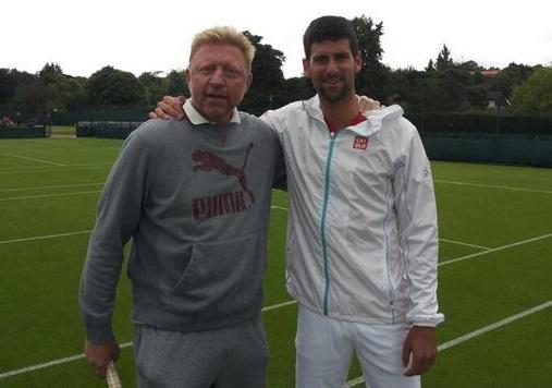Novak Djokovic Boris Becker
