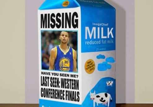 Steph Curry milk carton