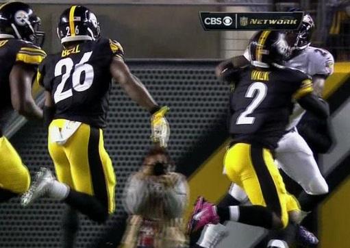 ec9dab76c Michael Vick blocks Lardarius Webb to give Steelers touchdown (Video ...