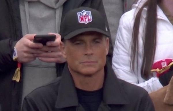 Rob Lowe NFL hat