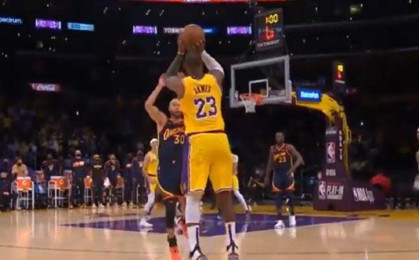 LeBron James shot