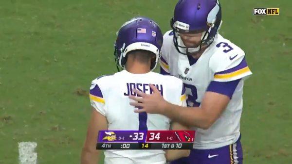 Vikings missed field goal